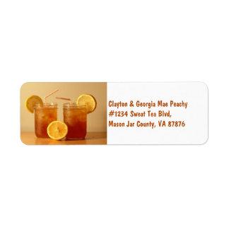 Southern Sweet Tea for Two in Mason Jars Return Address Label