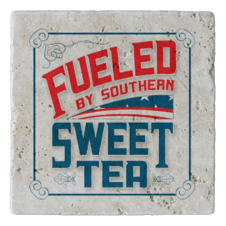 Southern Sweet Tea Travetine Stone Trivet