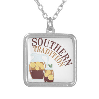 Southern Tradition Square Pendant Necklace