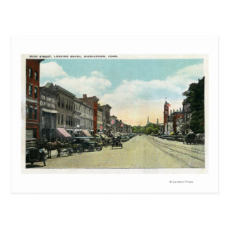 Southern View Down Main Street Postcard