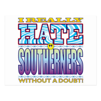 Southerners Hate Face Postcard