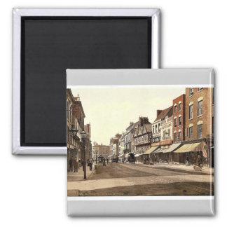 Southgate Street, Gloucester, England rare Photoch Square Magnet