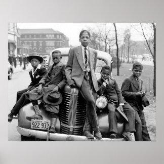 Southside Chicago Boys, 1941. Vintage Photo Poster
