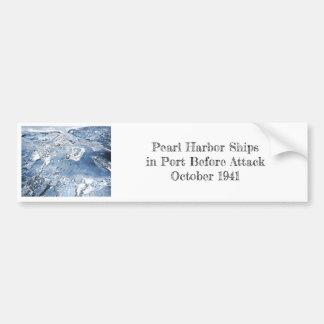 Southward Overhead View Pearl Harbor Bumper Sticker