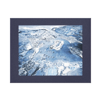 Southward Overhead View Pearl Harbor Canvas Print