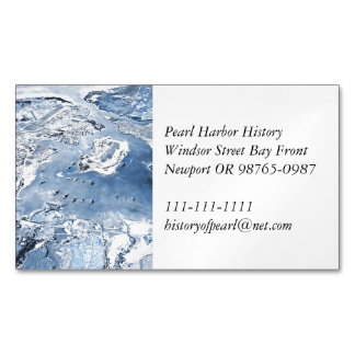 Southward Overhead View Pearl Harbor Magnetic Business Card