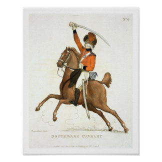 Southwark Cavalry Volunteer, plate 6 from 'Loyal V Poster
