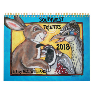 Southwest Animals Wildlife 2018 Calendar Humorous