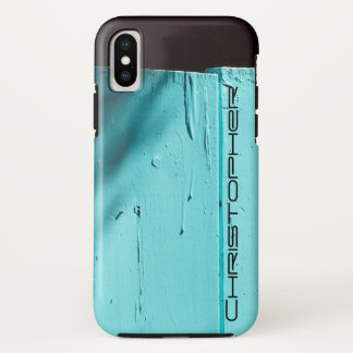 Southwest Art Turquoise Door, Personalized Name iPhone X Case