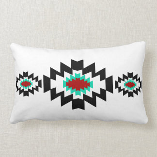 Southwest Aztec Native American Tribal Design Lumbar Cushion