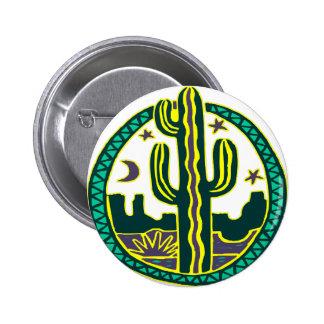 Southwest Cactus Pinback Buttons
