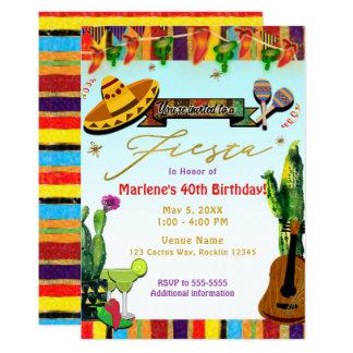 Southwest Cactus Cinco De Mayo Fiesta Party Card