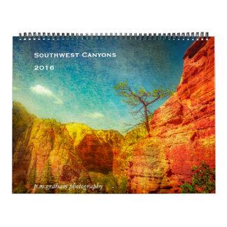 Southwest Canyons Calendar