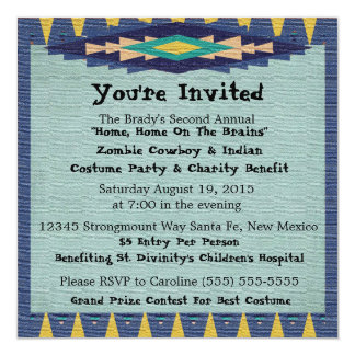 Southwest Charity Gala Cowboy Theme Party - Personalized Invitation
