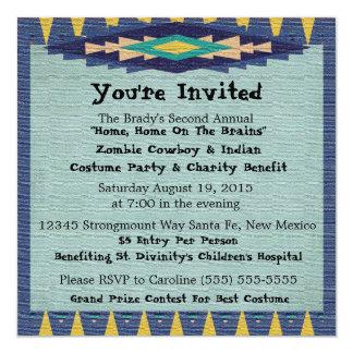 Southwest Charity Gala Cowboy Theme Party - 13 Cm X 13 Cm Square Invitation Card