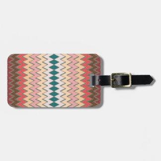 Southwest Chevron Zigzag Custom Luggage Tag