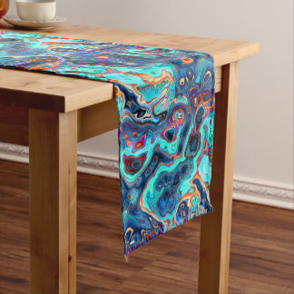 Southwest Colors Marbled Abstract Medium Table Runner