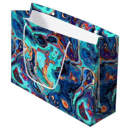 Southwest Colours Marbled Abstract Large Gift Bag