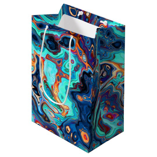 Southwest Colours Marbled Abstract Medium Gift Bag