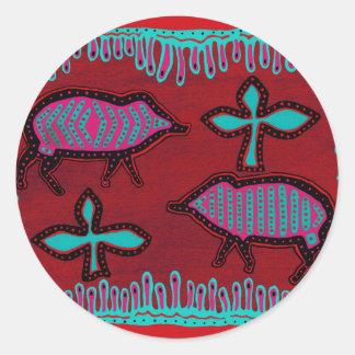 Southwest Desert Animals Classic Round Sticker