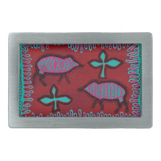 Southwest Desert Animals Rectangular Belt Buckle