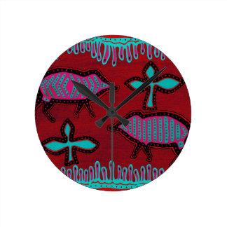 Southwest Desert Animals Round Clock