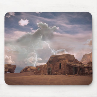 Southwest Deset Landscape with Lightning Mouse Pad