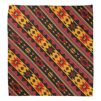 Southwest Design Bold Red Black Gold Bandana