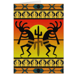 Southwest Design Dancing Kokopelli Card