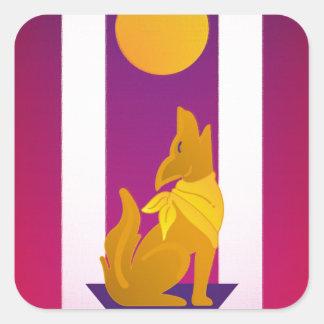 Southwest Dog Square Sticker
