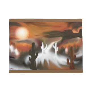 Southwest Fire and Ice Abstract Art Doormat