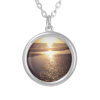 Southwest Florida Sunset Round Pendant Necklace