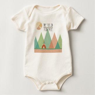 Southwest Geo II  Be Wild and Free Baby Bodysuit
