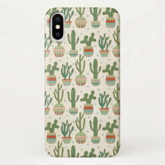 Southwest Geo Step | Cactus Pattern iPhone X Case