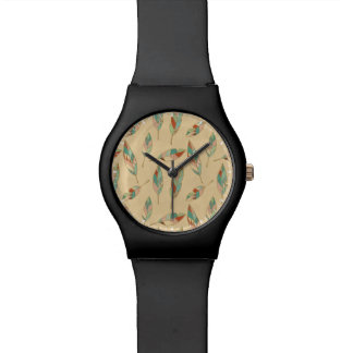 Southwest Geo Step | Coral Feather Pattern Watch