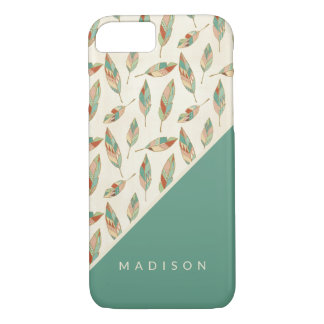 Southwest Geo Step | Geometric Feather Pattern iPhone 8/7 Case