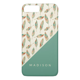 Southwest Geo Step | Geometric Feather Pattern iPhone 8 Plus/7 Plus Case