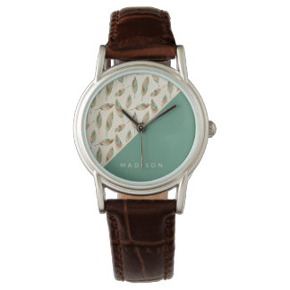 Southwest Geo Step | Geometric Feather Pattern Watch