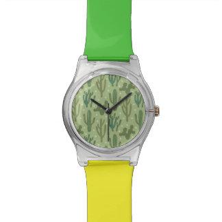Southwest Geo Step | Green Cactus Pattern Watch