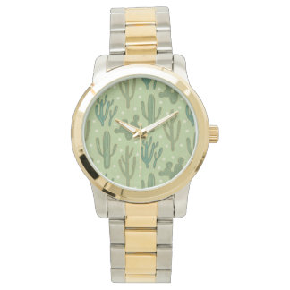 Southwest Geo Step | Green Cactus Pattern Watch