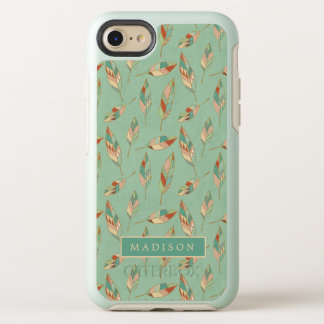 Southwest Geo Step | Green Feather Pattern OtterBox Symmetry iPhone 8/7 Case