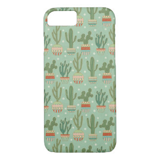 Southwest Geo Step | Potted Cactus Pattern iPhone 8/7 Case