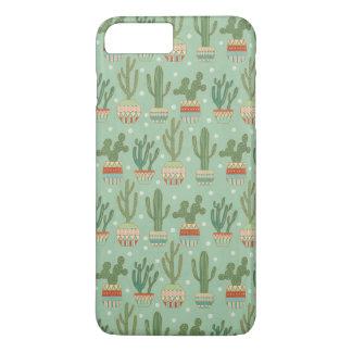 Southwest Geo Step   Potted Cactus Pattern iPhone 8 Plus/7 Plus Case