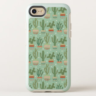 Southwest Geo Step | Potted Cactus Pattern OtterBox Symmetry iPhone 8/7 Case
