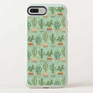 Southwest Geo Step   Potted Cactus Pattern OtterBox Symmetry iPhone 8 Plus/7 Plus Case