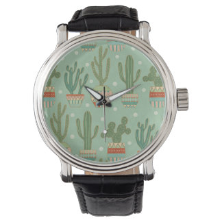 Southwest Geo Step | Potted Cactus Pattern Watch