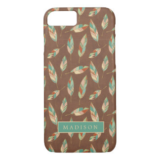 Southwest Geo Step | Southwest Feather Pattern iPhone 8/7 Case