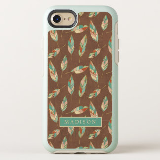 Southwest Geo Step | Southwest Feather Pattern OtterBox Symmetry iPhone 8/7 Case