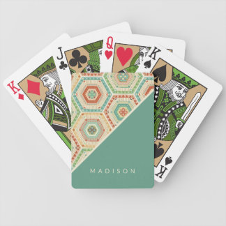 Southwest Geo Step | Southwest Hexagon Pattern Bicycle Playing Cards