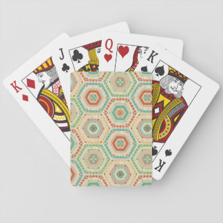 Southwest Geo Step | Southwest Hexagon Pattern Playing Cards